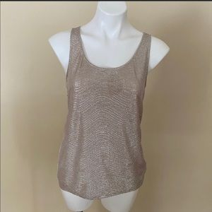 Express shimmery front tank top